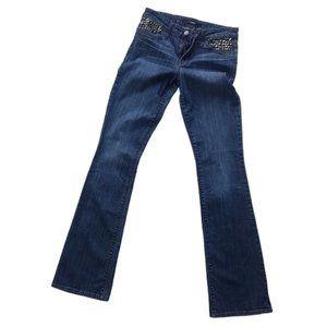 Else Fit-Studded Curvy Boot Jeans Sz 27